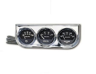 * AU2349 Auto Meter Gauge Kit, Gauge Console 2 1/16 in. ,Water / Volts / Oil