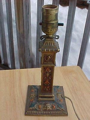 Antique Lamp Base AMW Original Paint Neo Classical Design ?? Well Done