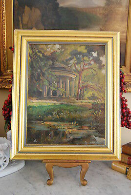 Wonderful 1931 Original Oil Painting By Loy Forest & Structure On A Gold Frame