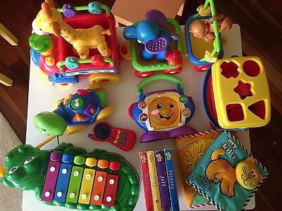 Fisher price toy collection and Lamaze books