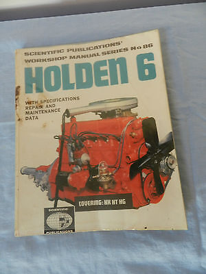 Holden Workshop Manual 6 Cylinder Covers HK-HT-HG