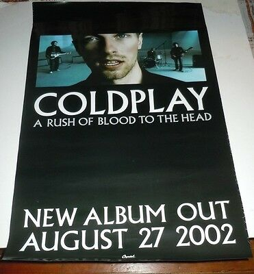 COLDPLAY~A Rush Of Blood To The Head~24x36~Promo Poster Poster~2002