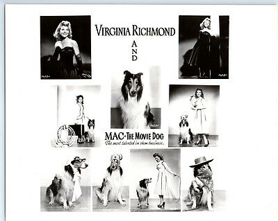 VIRGINIA RICHMOND & MAC THE MOVIE DOG Vintage CIRCUS ENTERTAINER Publicity Photo