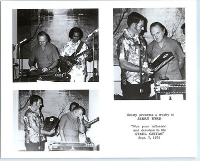 JERRY BYRD Vintage LAP STEEL GUITAR Photo COUNTRY MUSIC Grand Ole Opry