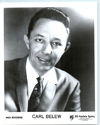 CARL BELEW Vintage MCA RECORDS Publicity Photo COUNTRY MUSIC Grand Ole Opry