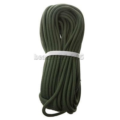 12KN Tree Rock Climbing Safety Rappelling Rope Auxiliary Cord Army Green 8mm 30m