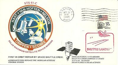 Space Shuttle Challenger Sts-41C Edwards Afb Landing 4/13/84, Crippen, Scobee