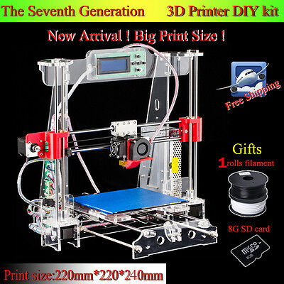 3D Printer Auto Full Acrylic Frame Updated High Quality Reprap Prusa i3 Pk Anet