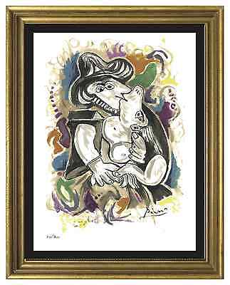 """Pablo Picasso Signed & Hand-Numbered Limited Edition """"The Kiss"""" Lithograph Print"""