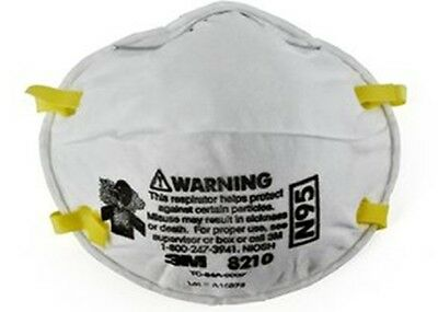 3M 8210 N95 Particulate Respirator Mask, Pack Of 80 NEW DEAL *Free US Shipping*