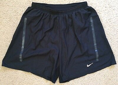 NIKE RUNNING Dri-Fit Gym Sports Shorts Inner Pants Black Mens Size S