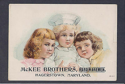 Victorian Trade Card Masury's Railroad Paint~McKee Brothers, Hagerstown, MD