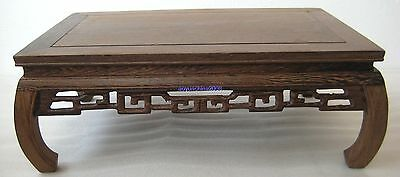"""11.2""""x7.2""""x4.2"""" ORIENT CHINESE DISPLAY*ROSEWOOD*WEALTHY TEXTURE"""