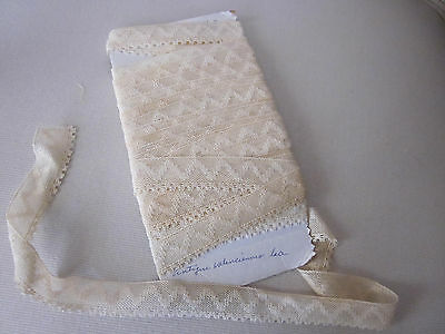 """Antique  Valenciennes Lace Bought In France 8 Yards Ivory 3/4""""w Trim Dolls"""