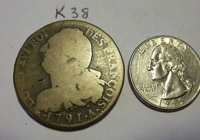 1791 French Colonial Coin. Larger coin. (k38)
