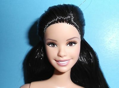 *nude*raven Haired Cutie*winning Smile*barbie*for Ooak And Display*
