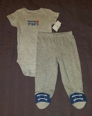 NWT Carters Baby Boy Clothes 6 Months Two Piece Bodysuit Pants Outfit