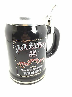 Jack Daniels Pewter Lid Stoneware Collectible Retired