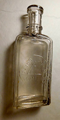 Grand Union Tea Company Clear Cork Top Bottle; 5 Inches Tall