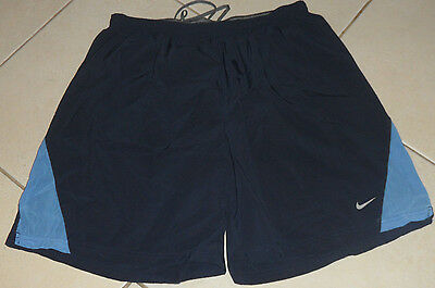 Nike Fit Dry Men's Short's Xxl Running/training/athletic Euc Navy & Light Blue