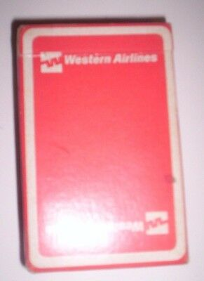Vintage Western Airlines Souvenir Playing Cards