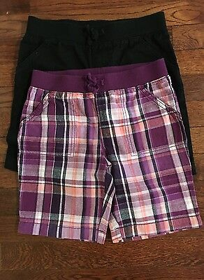 Faded Glory Girls Lot of 2 Pair of Shorts Size 7-8
