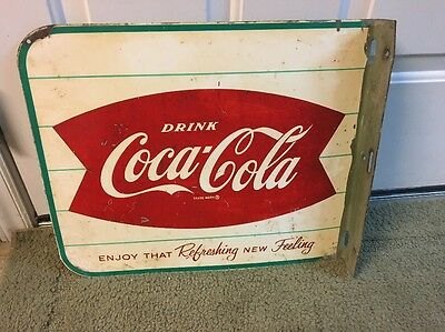 1950s Coca Cola Advertising Sign Flange Fishtail
