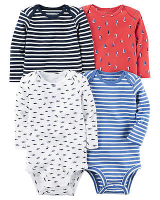 Carters Baby Bodysuit  4-Pack Long-Sleeves Set With Tag