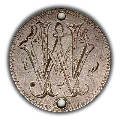 1833 Bust Dime Love Token!  WM!