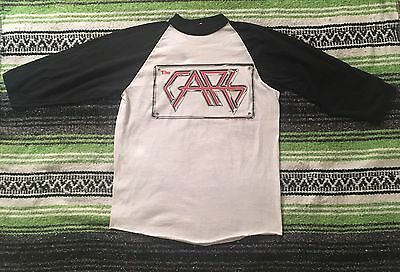 RARE Vintage 80s The Cars On The Road Concert Tour Raglan T Shirt soft thin tour