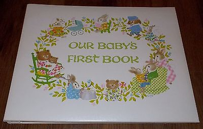 Vintage 1967 C.R. Gibson Our Baby's First Book Dolli Tingle Animal Babies Album
