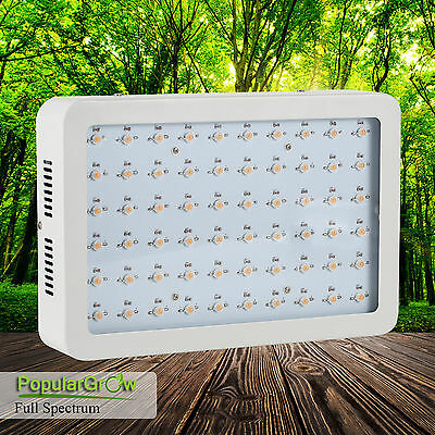 Real 5W LED Grow Light Full Spectrum 300W Hydro Veg Flower Indoor Plant Lamp