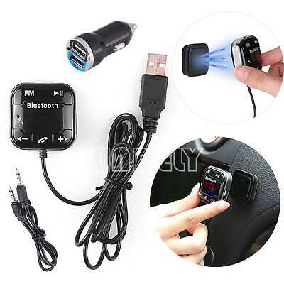 FM Transmitter Bluetooth 4.0 Handsfree Car Kit MP3 Player & USB Charger Magnetic