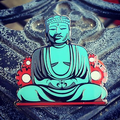 """Blessed Buddha enamel pin (hatpin) 1.5"""" tall double back posted"""