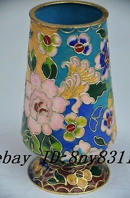 Delicate Chinese Cloisonne Handmade Flower Cup