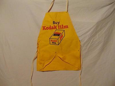 "Original Vintage Kodak Film Yellow Film Developing Apron not used 22"" x 16"" USA"