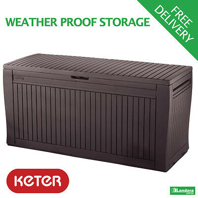 2 x Comfy Deck Boxes / Benches by Keter - Garden Storage & Seating