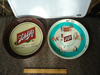 Schlitz Beer Tray Lot - 1940s and 1962 - Milwaukee!