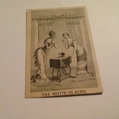 Vintage Trade Card White Sewing Machine Elkhart, Indiana