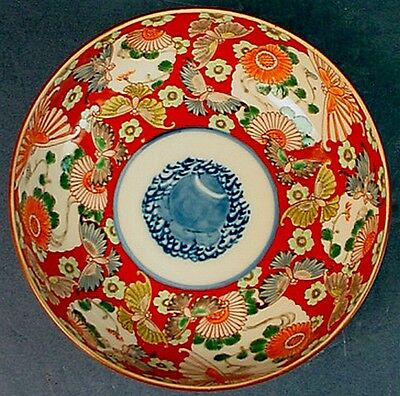 Highest Quality Antique Japanese Meiji Period Red Ground Imari Porcelain Bowl