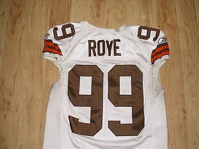Orpheus Roye Cleveland Browns Game Used Worn Jersey 15 Team Repairs