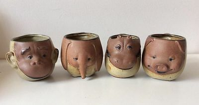 4 x Animal Pottery Mugs. New. Never Used. From The 1990s Era. Pick Up Or Post.