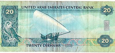 World Note Collector  United Arab Emirates  20 Dirhams Vf Beautiful B005