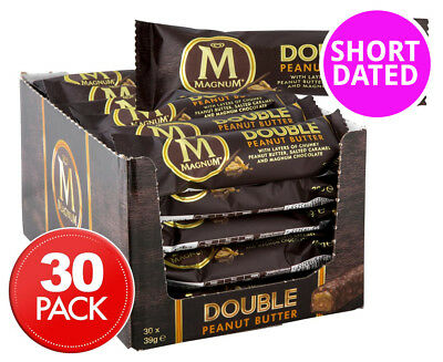 30 x Magnum Double Peanut Butter Bar 39g