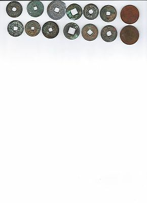 14 Ancient Chinese Coins(100-2000 yrs old)