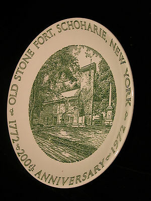 Vintage  1972  - Old Stone Fort, Schoharie, New York  200 Anniversary  Plate
