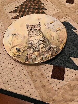 "Royal Worcester Kitten Classics Plate ""Tiger's Fancy"""