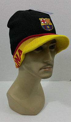 new FC BARCELONA Beanie black visor CAP KNITTED HAT  authentic product futbol
