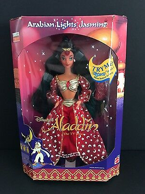 Vintage 1990s 1994 Disney Aladdin Arabian Lights Jasmine Doll Mattel (WORKS NEW)