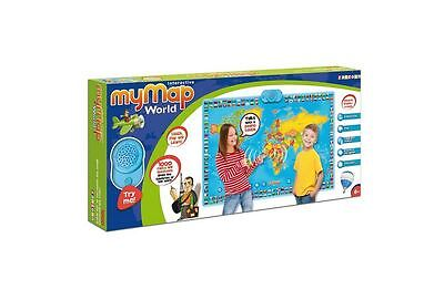Kids World Map Poster Interactive Talking Quiz Games Countries Capital Flags New